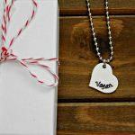 Stamped Vegan Heart Necklace