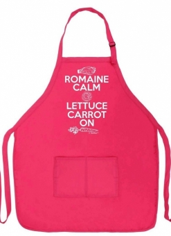 Romaine Calm Lettuce Carrot On Funny Apron