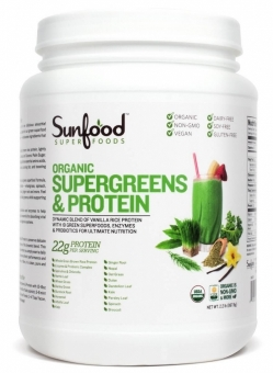 Sunfood Organic Supergreens & Protein Powder