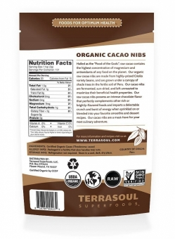 Terrasoul Superfoods Raw Organic Cacao Nibs (5 Pack)