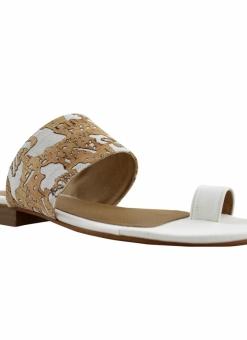 Flower Cork Flat Sandals