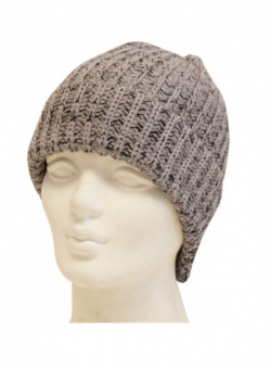 Mechaly Grey Vegan Knit Beanie
