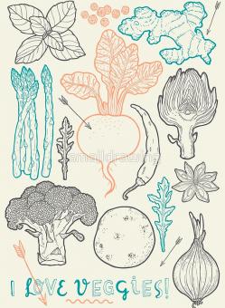 I love veggies! Framed Art