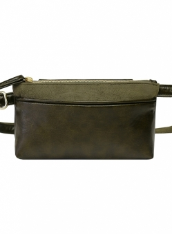 Hipsters for Sisters Pocket Bum Bag In Olive