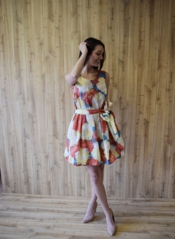 Classic Floral Tank Top Dress