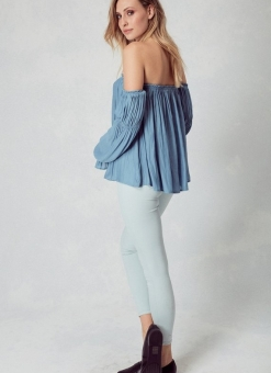 Malibu Chambray Off The Shoulder Top
