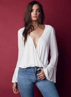 New Romantics White Criss Cross Top