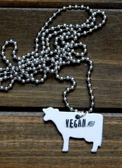 Red Panda's Vegan Cow Necklace