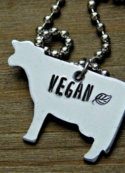 Red Panda's Vegan Cow Necklace