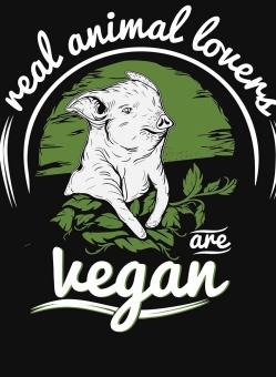 Real Animal Lovers Are Vegan T-shirt