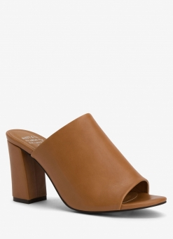 Matt & Nat Tan High Heel Mule Sandal